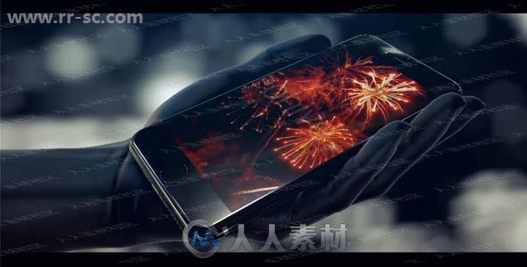 科技细微手机芯片覆盖logo动画演绎AE模板