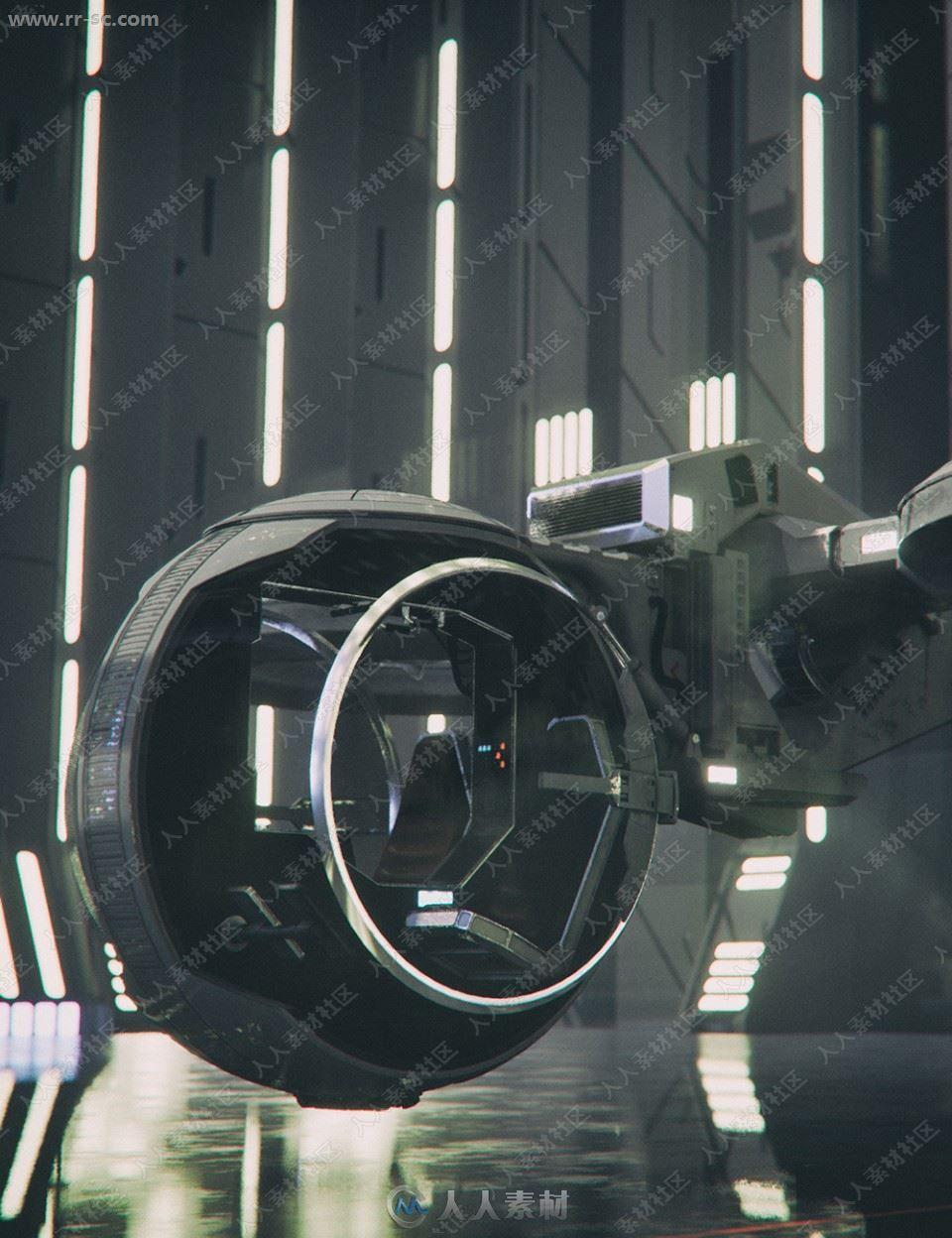 未来科技精密飞行快艇战斗机3D模型