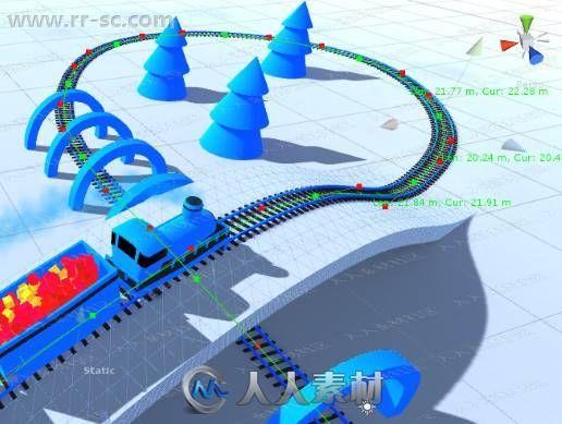 游戏同一空间层次弯曲网格工具Unity游戏素材资源