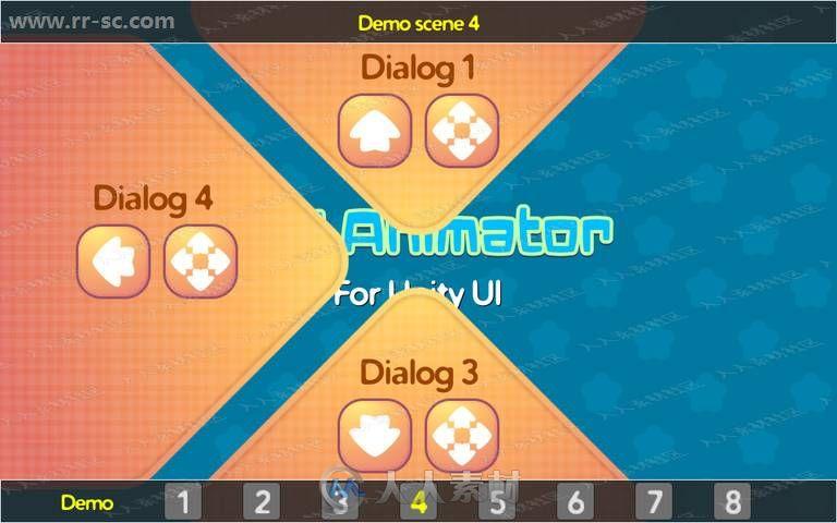 游戏界面UI设计添加图标参数动画工具Unity游戏素材资源