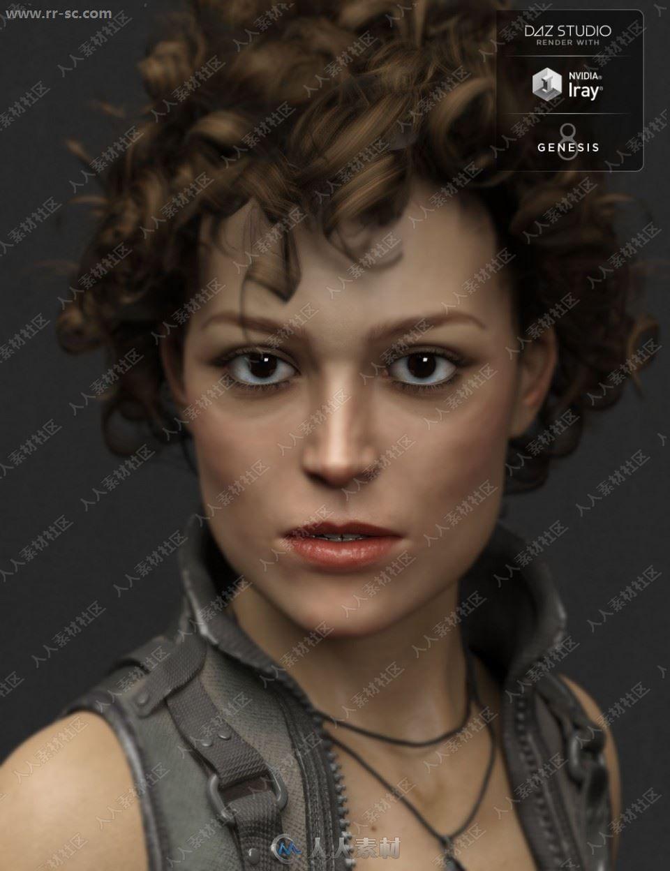 中年英气气质女性战斗造型3D模型