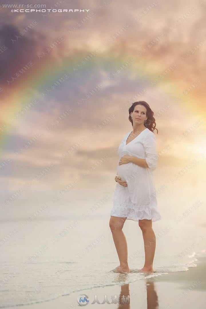 外景自然意境头顶光束彩虹特效高清图片