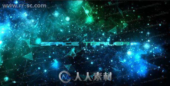 唯美闪耀星空光点碎片logo动画演绎AE模板