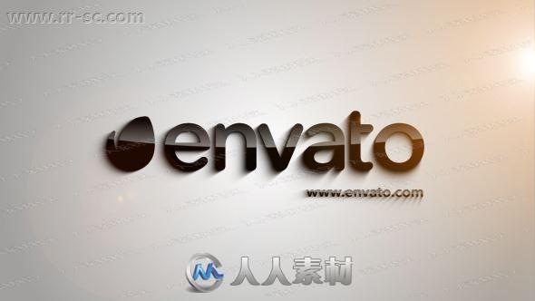 简洁利落碎片拼凑logo动画演绎AE模板