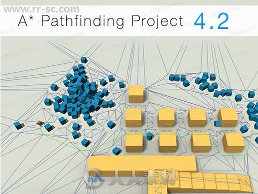 寻路复杂迷宫障碍物道路导航工具Unity游戏素材资源