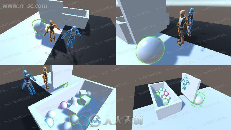 动画图形轮廓细条光辉发散工具Unity游戏素材资源
