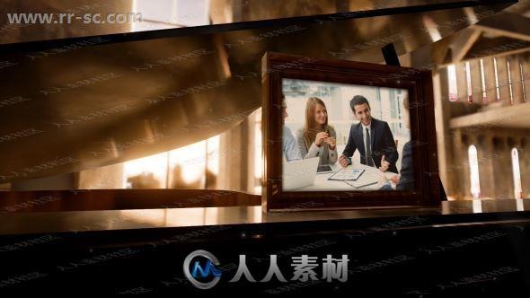 公司家庭简洁木质相框画板相册动画AE模版