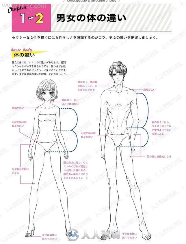 Kyachi著姿势与动作绘画女性角色版书籍杂志