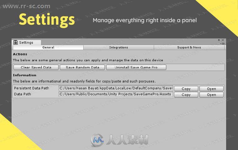 完整保存游戏存储数据库工具Unity游戏素材资源