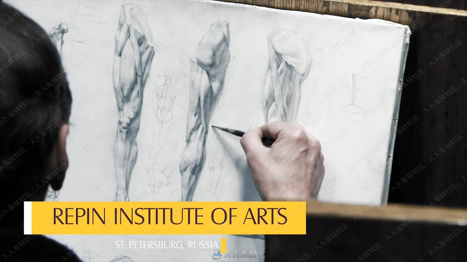 俄罗斯大师级传统绘画技法视频教程