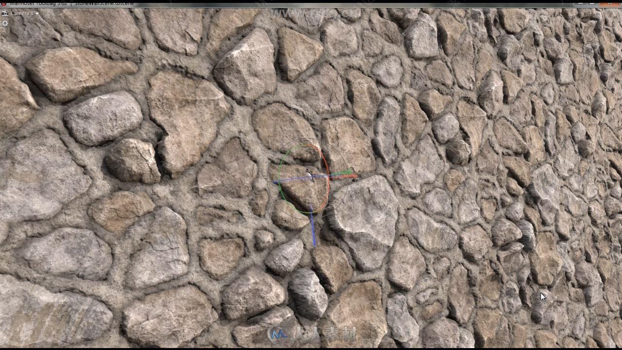 Substance Designer石材砖墙纹理贴图制作视频教程