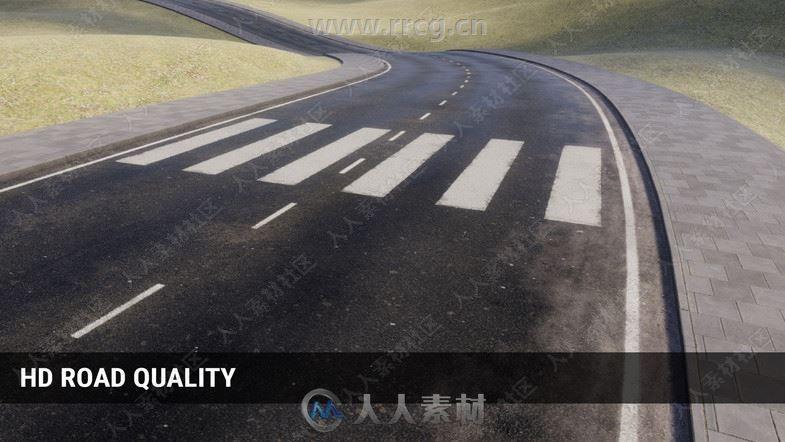 PRB道路贴图Unity游戏素材资源