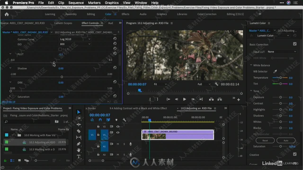 001 Fixing color and exposure problems in video with Premiere Pro.mp4_20190719_1.jpg