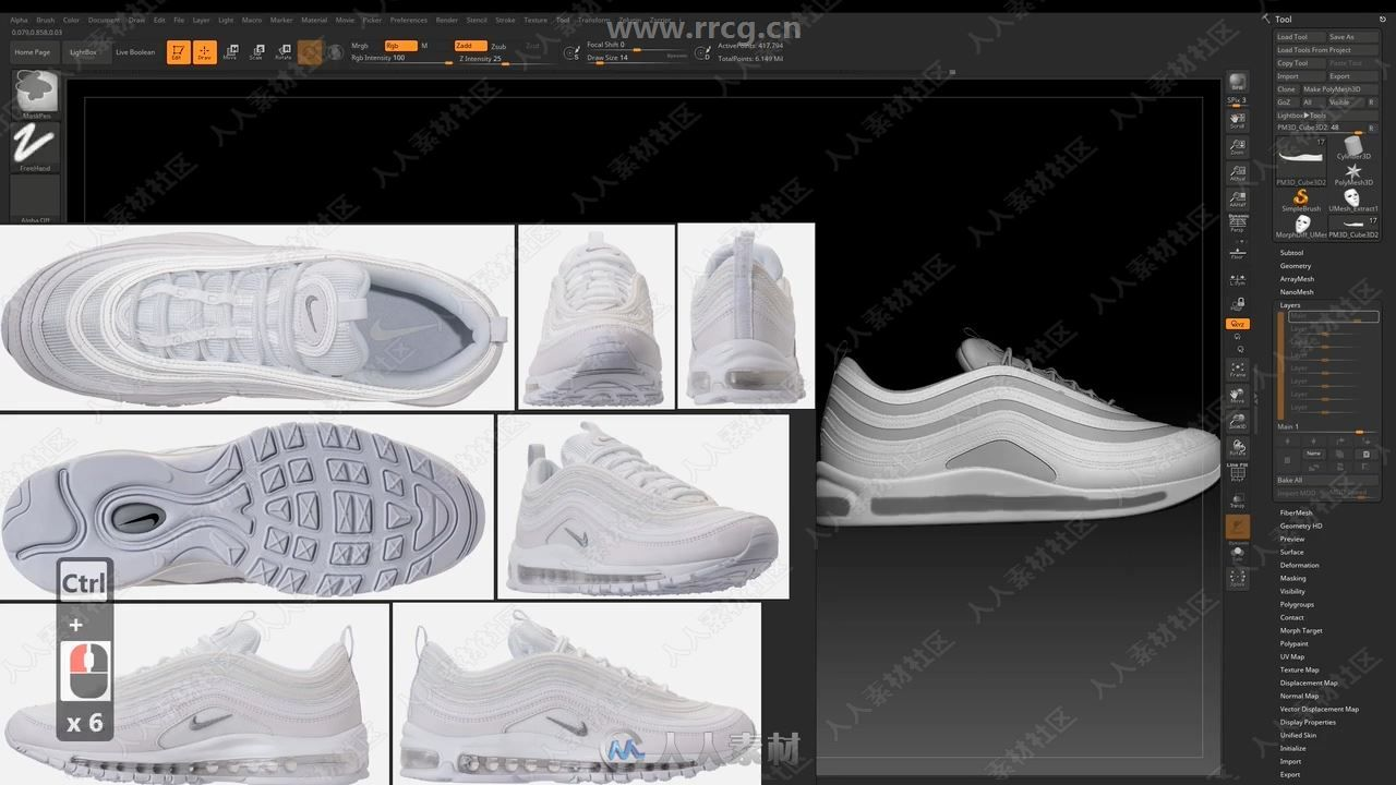 Modeling A Realistic Sport Shoes In Zbrush - Leouvon - Skillshare.mp4_20190726_2.jpg