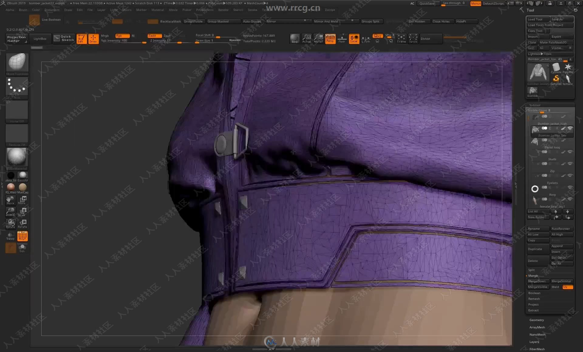 3.1 - Preparing The Garment For Export From Zbrush.mp4_20190813_083947.035.jpg