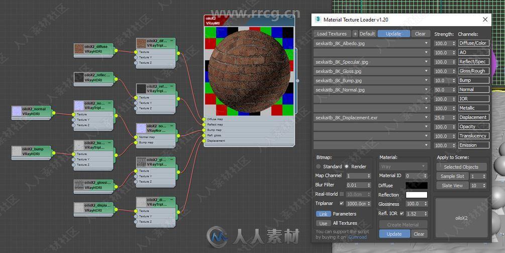 Material Texture Loader材质纹理3dsmax插件V1.4版
