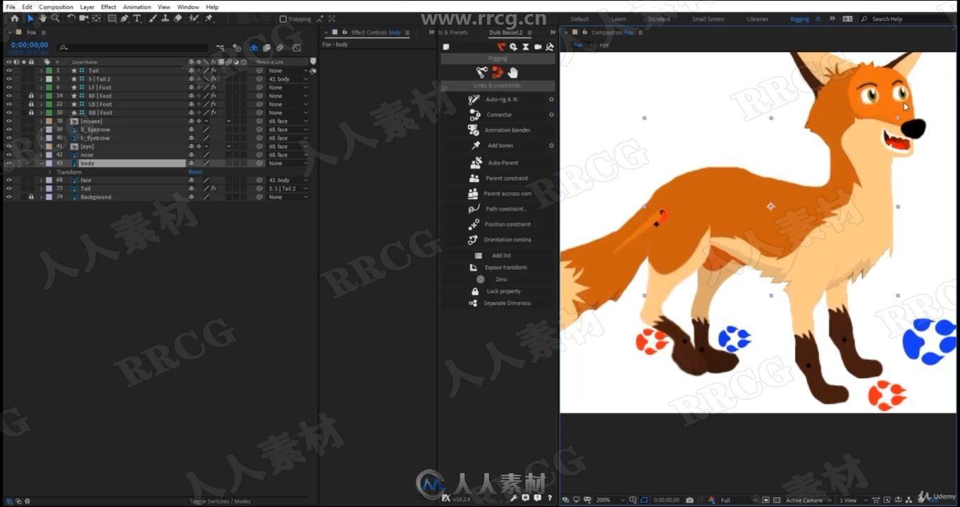 AE角色木偶骨骼动画木大师级训练视频教程