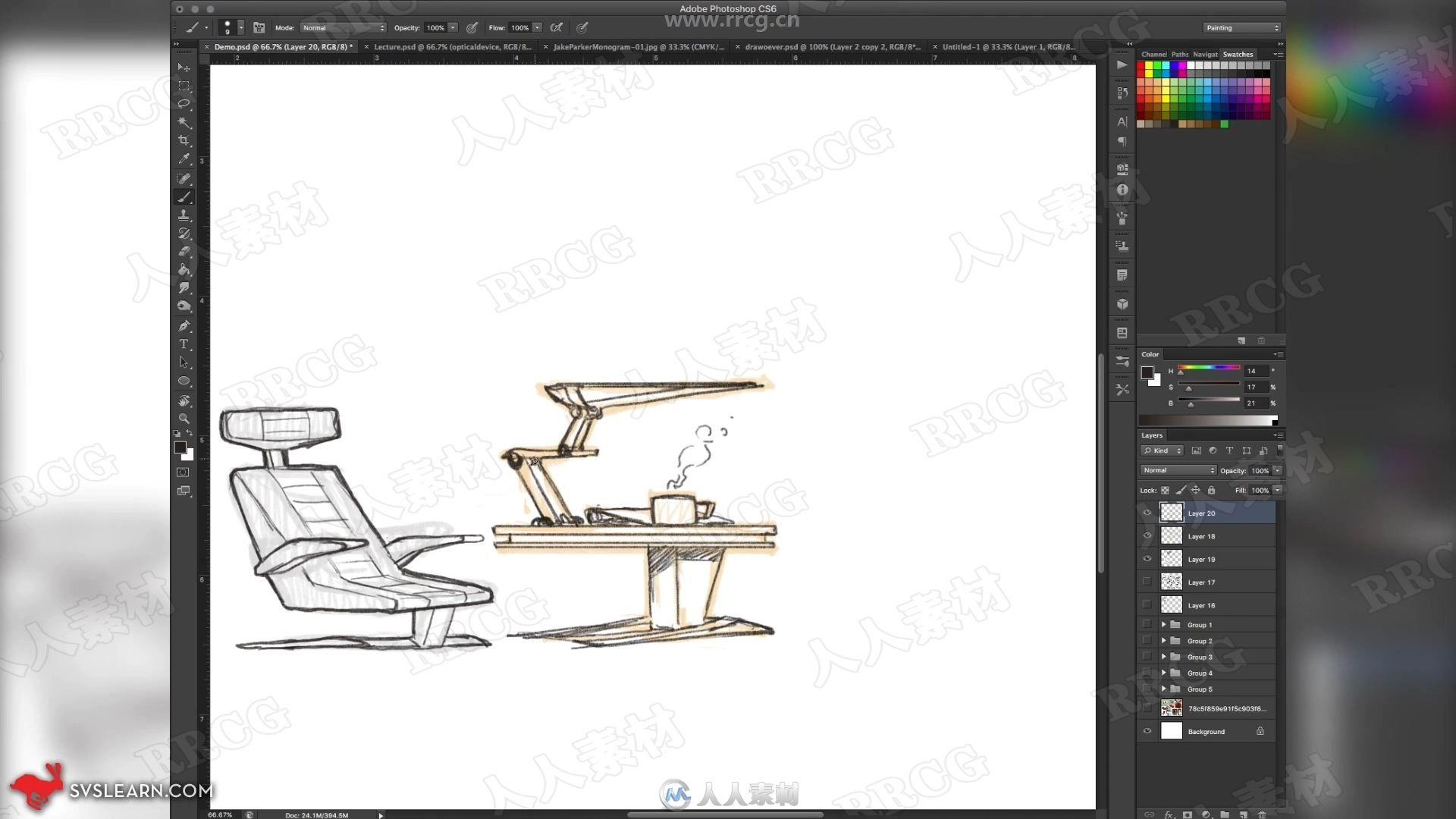 国外数字绘画游戏道具设计训练视频教程