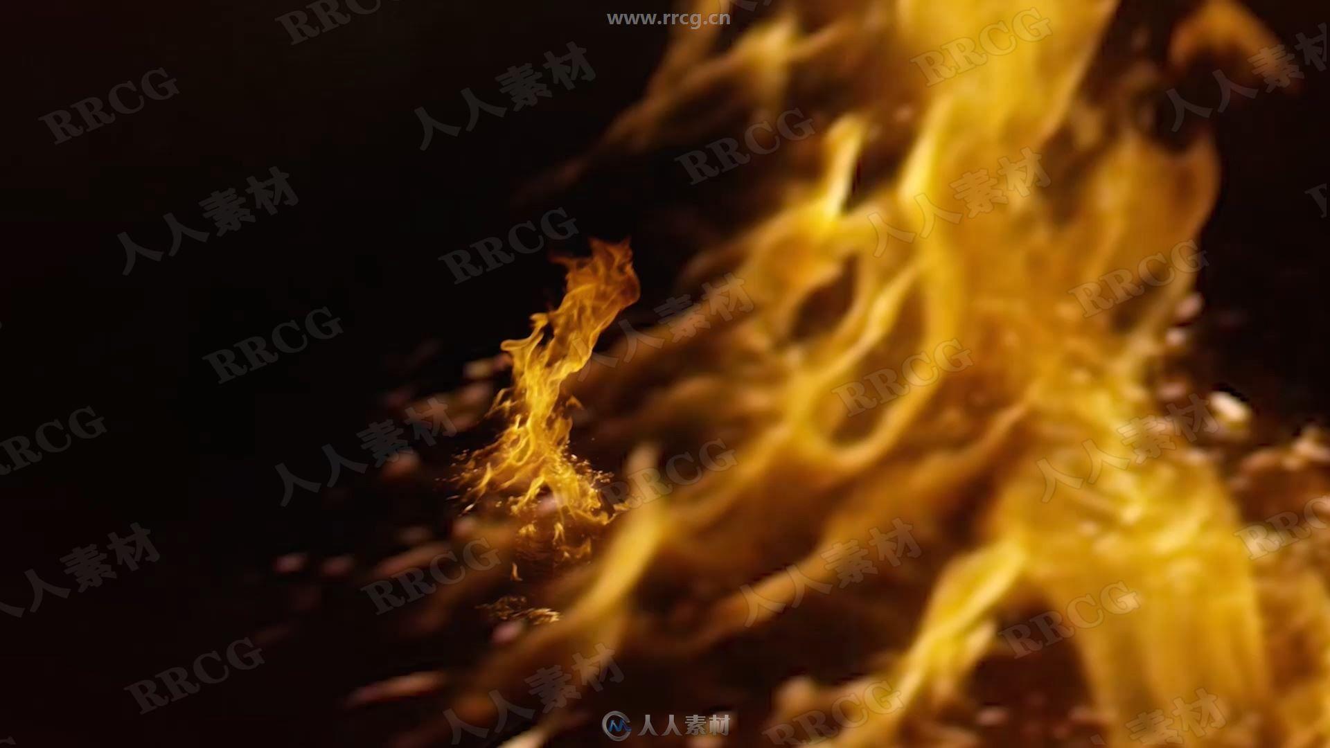 500组真实火焰燃烧特效4K高清视频素材合集