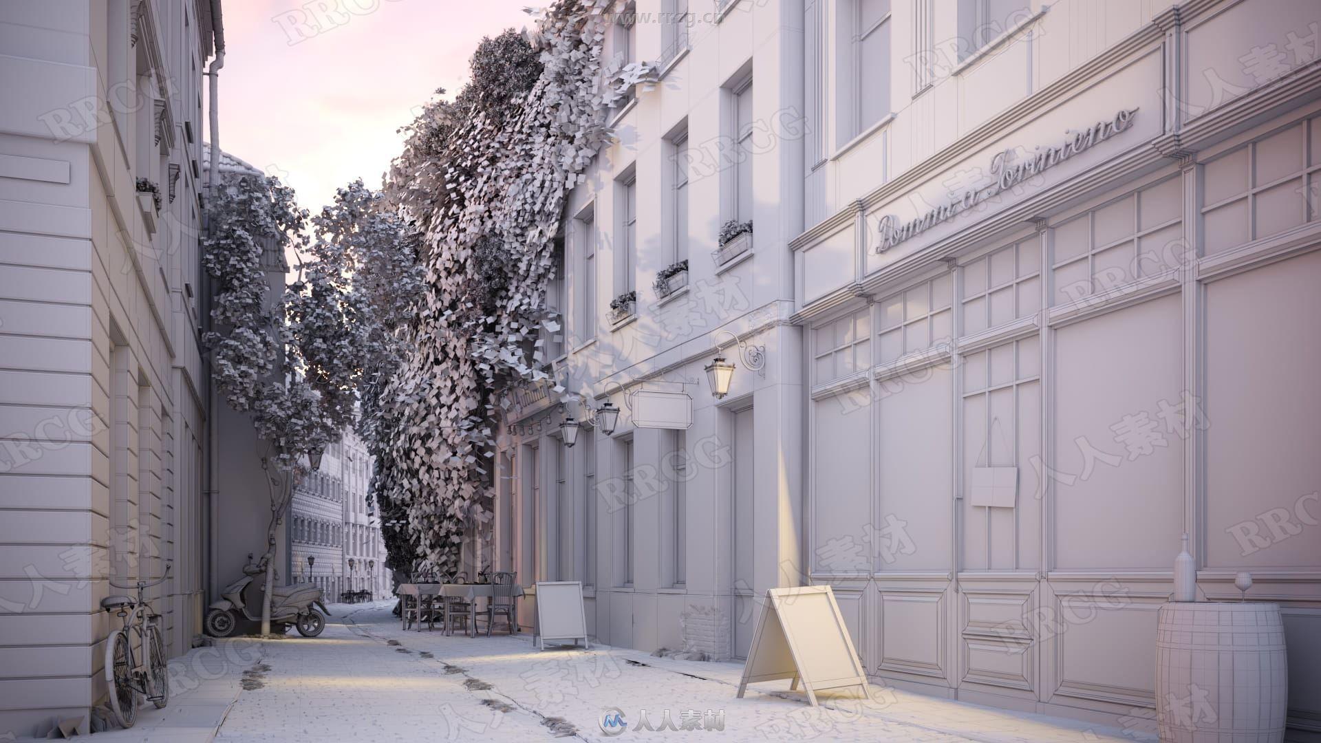 10组高品质城市建筑外部景观3D模型合集