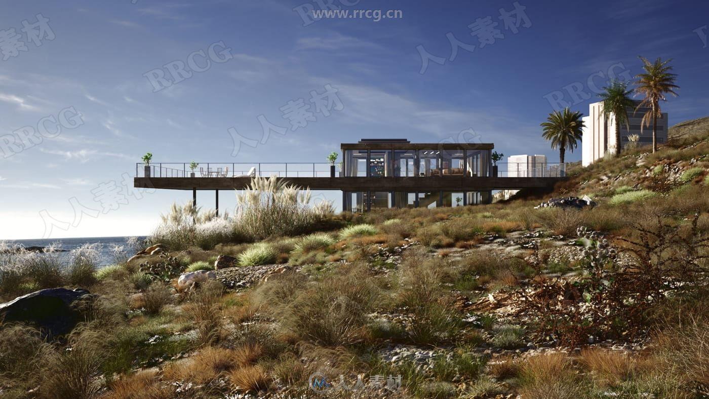 10组高品质别墅豪宅建筑外部景观3D模型合集