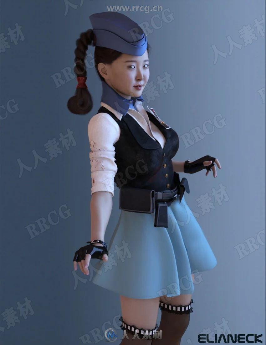 日本各种装扮年轻女性角色3D模型合集