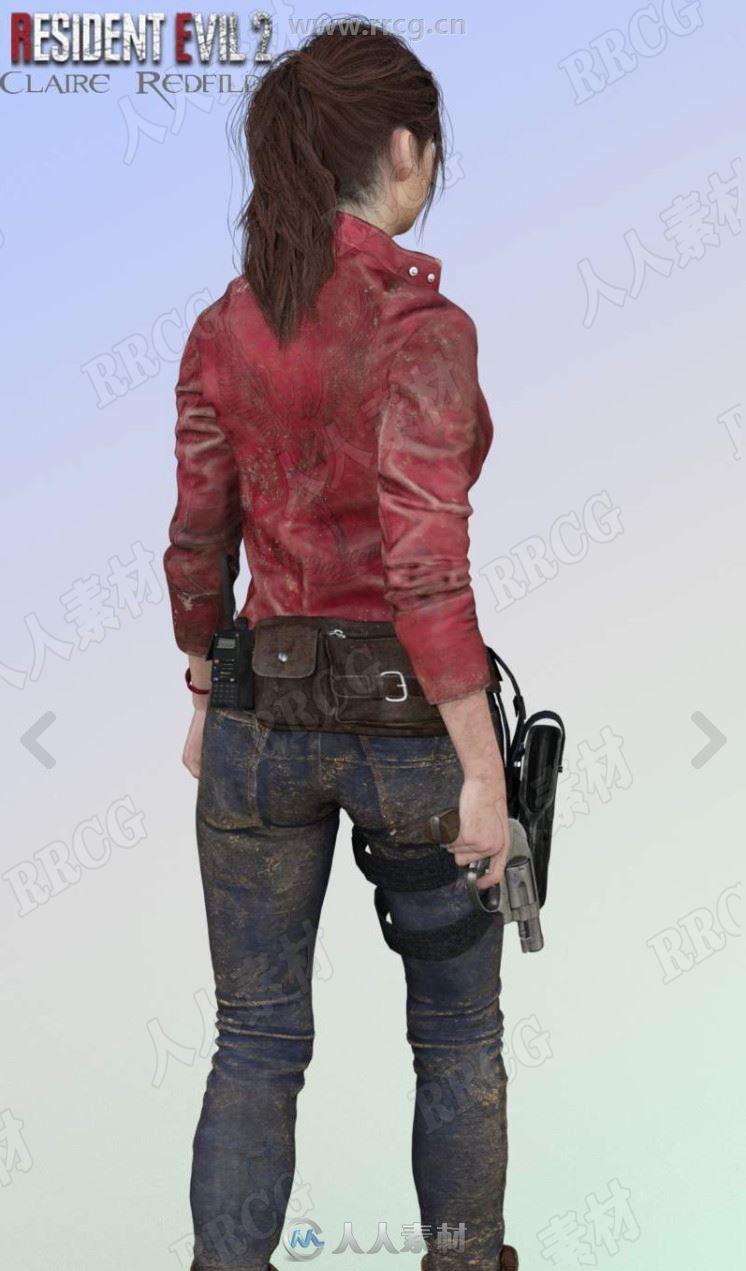 生化危机重置克莱尔女性角色3D模型