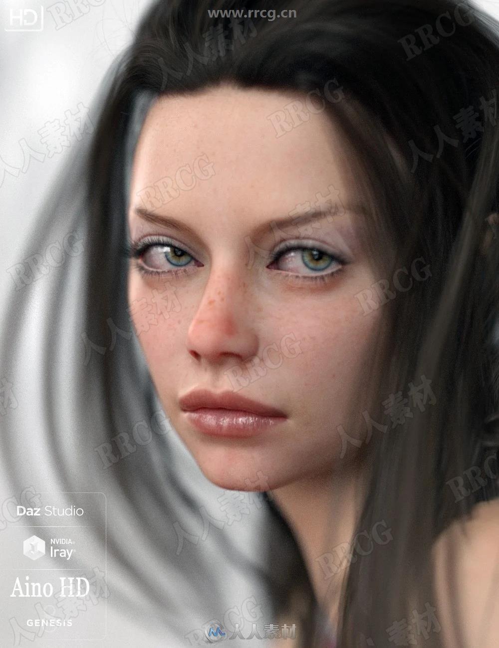 超精致面部头部细节女性角色3D模型合集