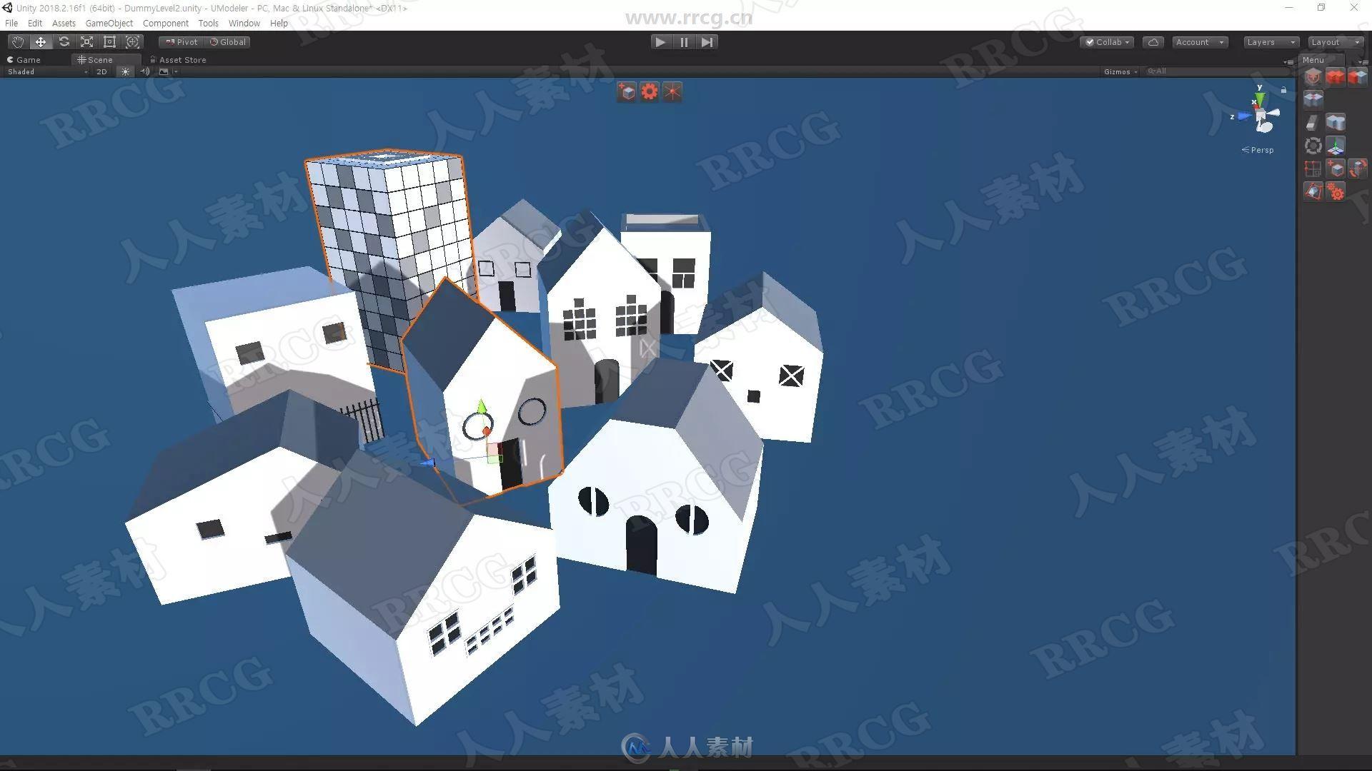 UModeler游戏建模工具Unity游戏素材资源
