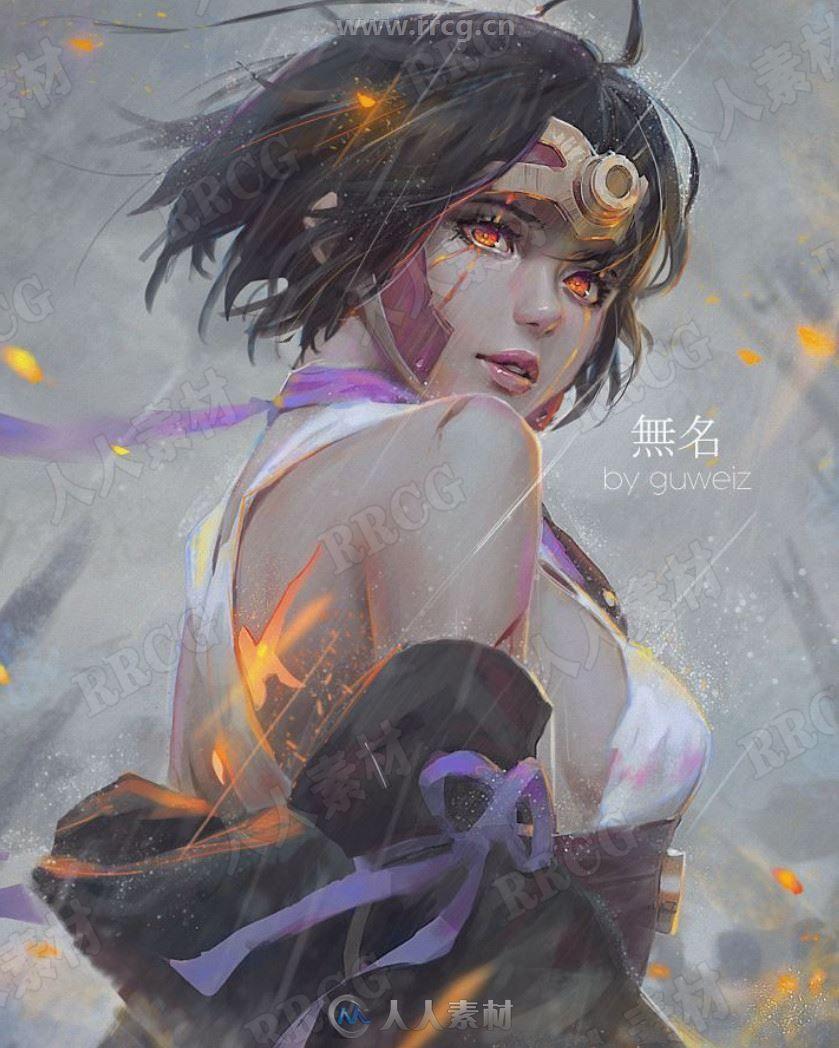 新加坡画师GUWEIZ超美女性角色作品原画作品集
