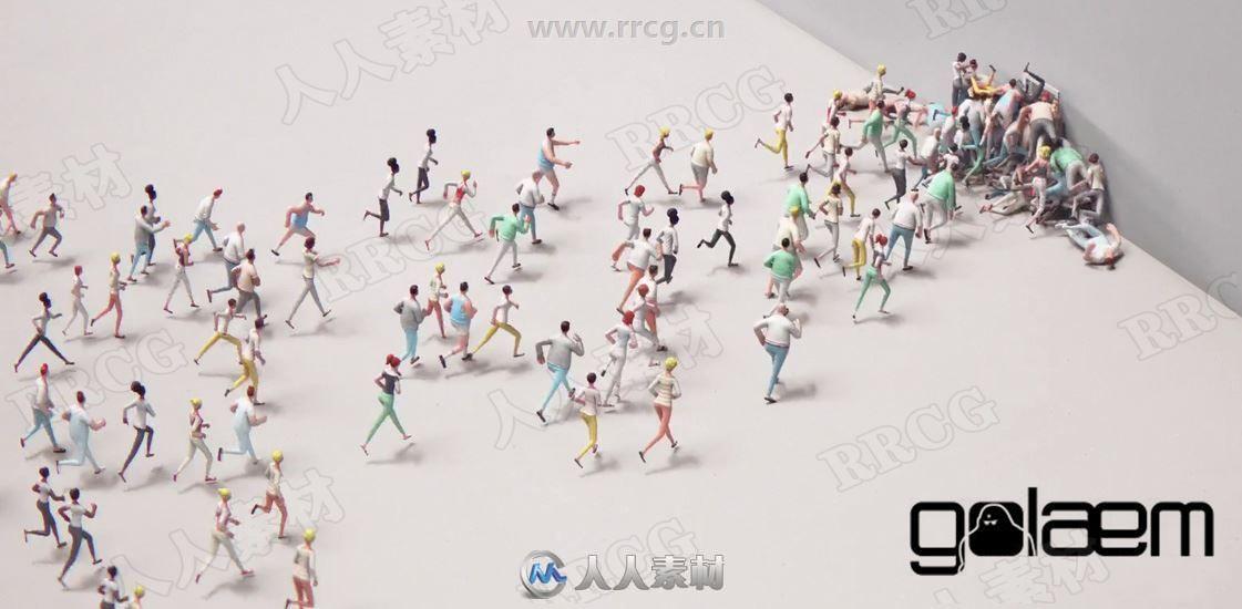 Golaem Crowd人群模拟渲染Maya插件V7.3.1版