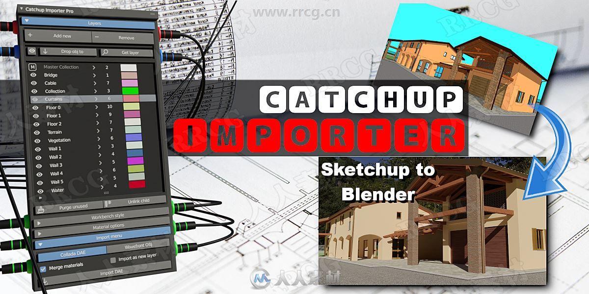 CatchUp Importer模型导入工具blender插件V1.0.4版