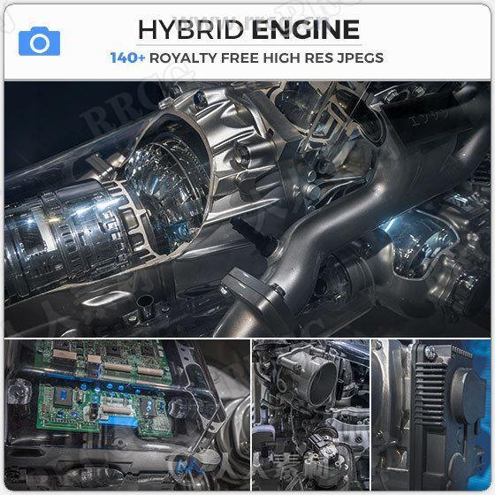 146组混合动力发动机复杂细节高清参考图片合集