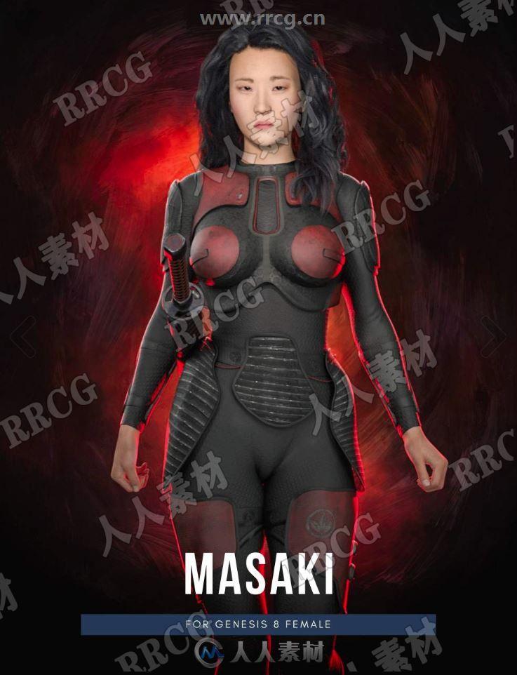 勇敢美丽东方亚洲日本女性角色3D模型合集