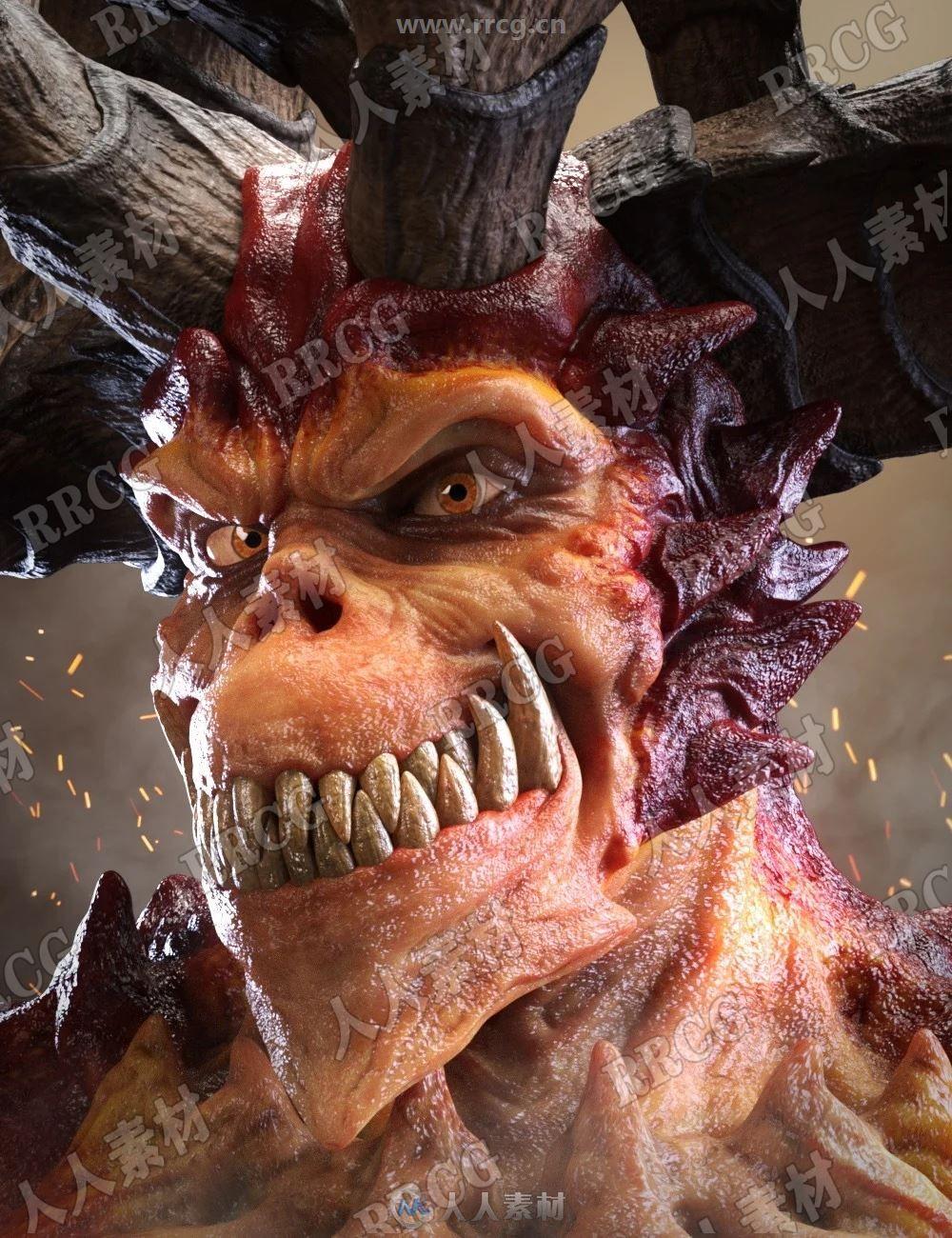 超级邪恶恶魔怪兽角色3D模型合集