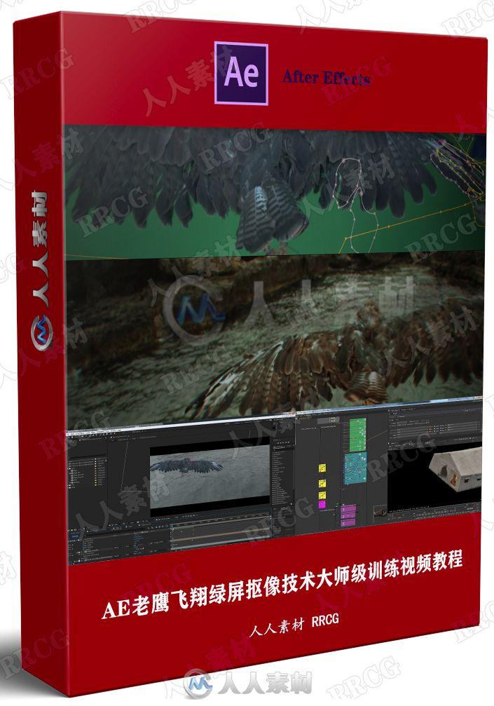 AE老鹰飞翔绿屏抠像技术大师级训练视频教程