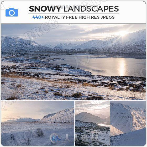 40组积雪覆盖山脉河流冬季雪景高清参考图片合集