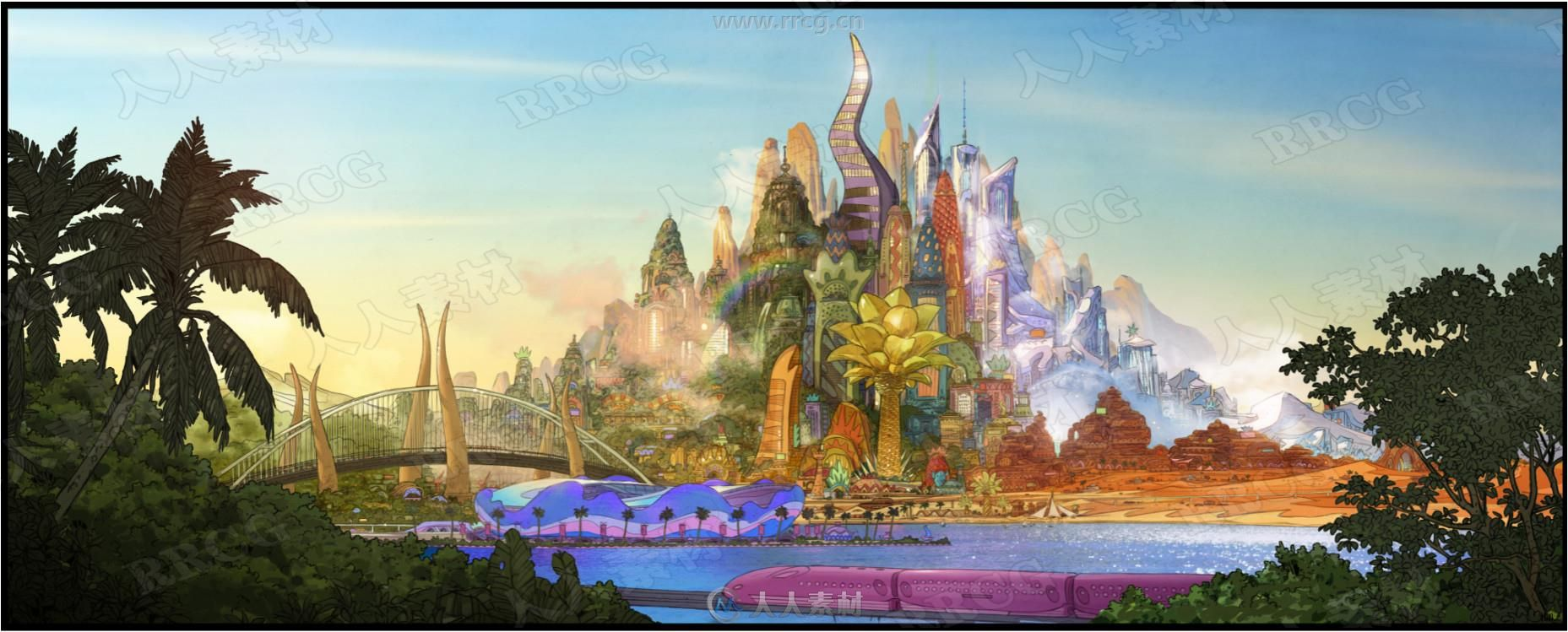 迪士尼动漫电影《疯狂动物城》最全设定原画集