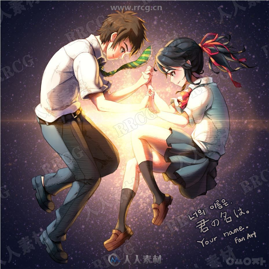 韩国BARA Art画师动漫人物形象角色彩色图和线稿原画集