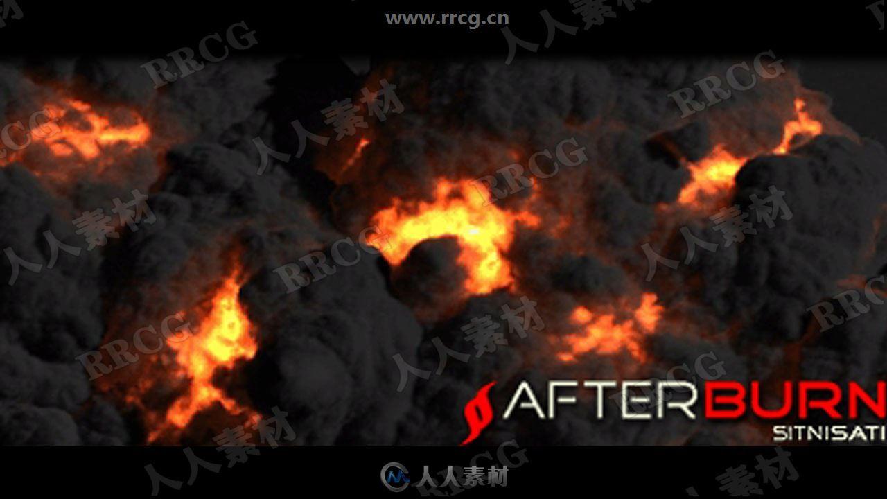 SitniSati AfterBurn烟雾爆炸例子特效3dsmax 2020插件V4.2.3版