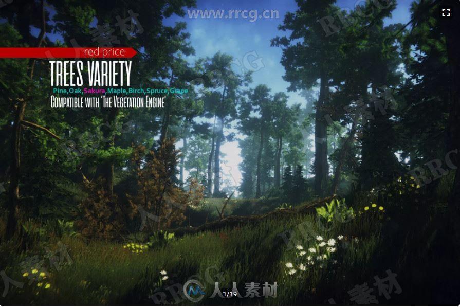 树木和植物丛林环境场景Unity游戏素材资源