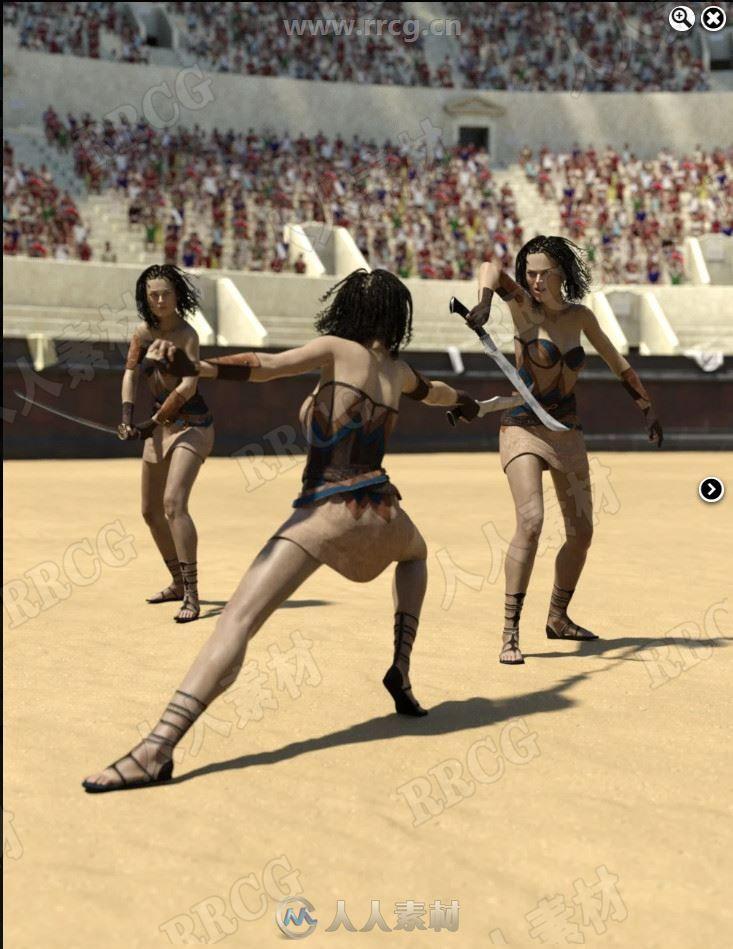 人物挥剑击剑战斗姿势3D模型合集