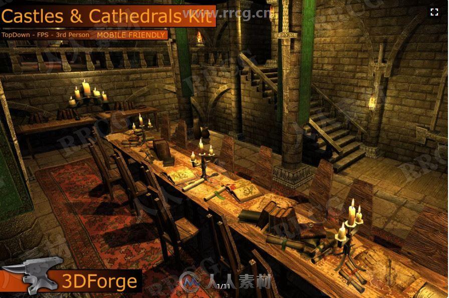 中世纪黑暗城堡地牢场景Unity游戏素材资源