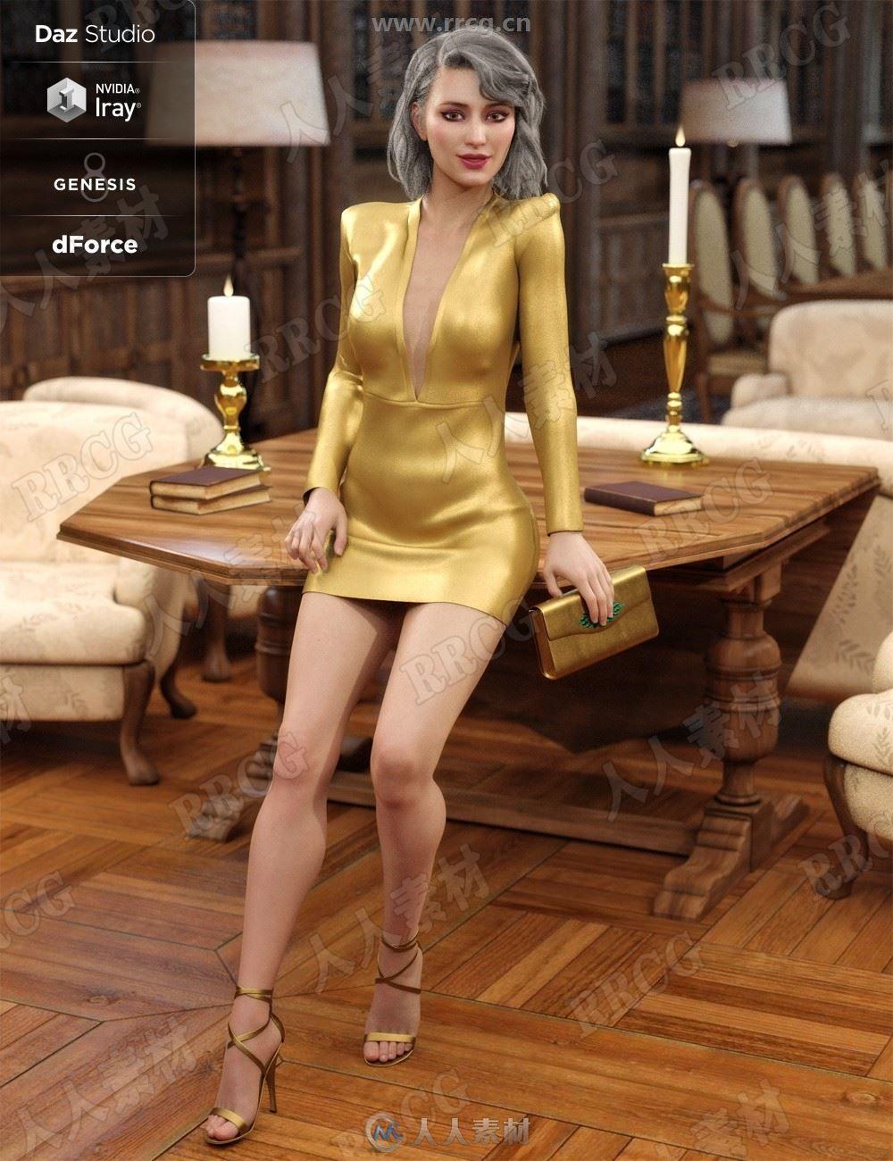 时尚优雅有质感女性名媛风服饰3D模型合集