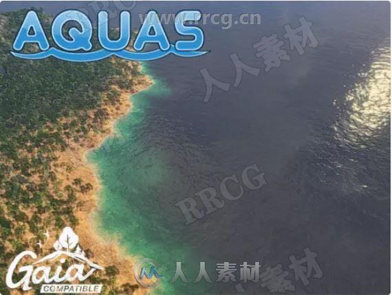逼真河流海岸水系统场景工具Unity游戏素材资源