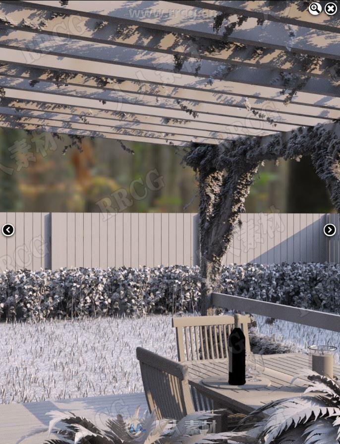 小型别墅门廊花园庭院3D模型合集