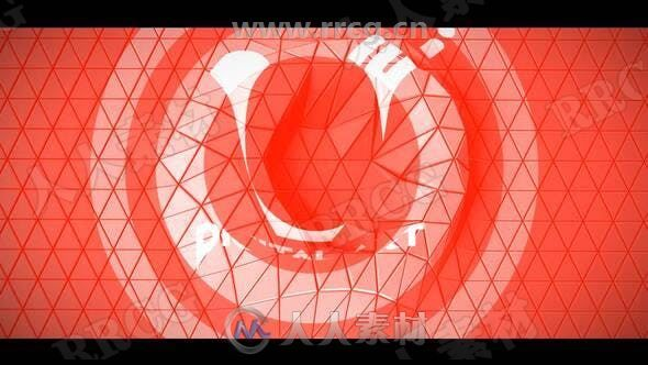抽象科技感抖动平铺LOGO动画演绎AE模板