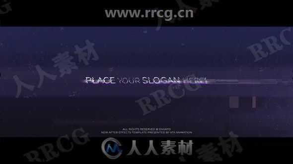 雪花闪烁断续连接无信号故障LOGO动画演绎AE模板