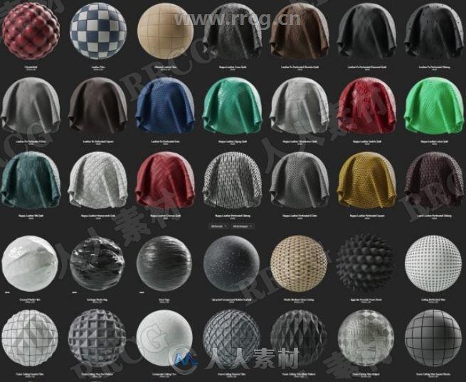 437组高品质皮革与塑料Substance材质合集 sbsar文件格式