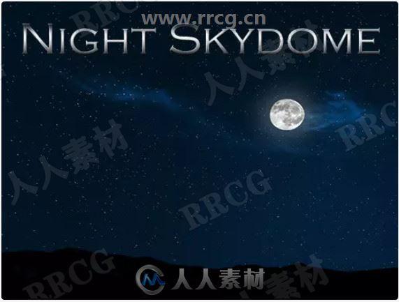 夜空中3D月亮和2D卫星环境Unity游戏素材资源